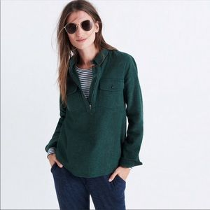 Madewell Flannel Zip Front Popover Shirt size XS